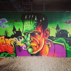 #graffiti #frankenstein #aws #aws2099 #mars
