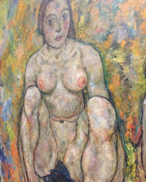 Kauernde Frauen #schiele #1918 #unteresbelvedere #vienna #subtleart #thebody #anatomyofmelancholy