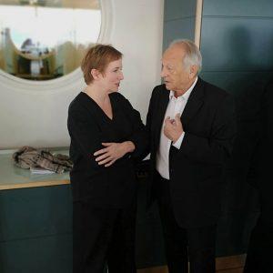 Marlene Ropac im Gespräch mit Produzent Veit Heiduschka (VAM). . . . . . #pressconference #press #talk...