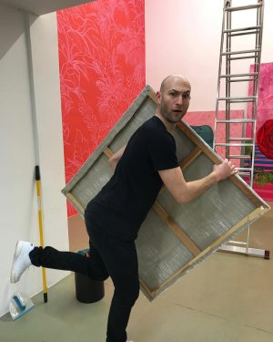 "We are almost ready for tomorrow! Opening of exhibition ""Everpink"" by Sahar Zukerman. ..."