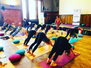At this years Yogaplanet. It was fun! Thank you for all who came and participated ✨ #yogaplanetwien...