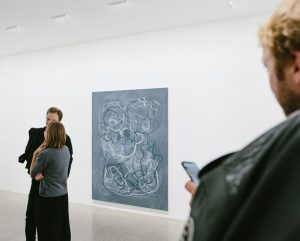 Our current exhibition by Ute Müller leads to a game with allusion. The unframed paintings have overlapping...