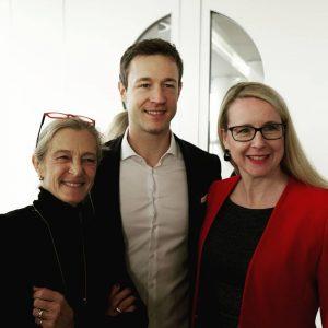 Kathrin Zechner (Programmdirektorin ORF), Gernot Blümel (Bundesminister für EU, Kunst, Kultur und Medien) und Margarete Schramböck (Bundesministerin...