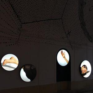 """Elfie Semotan's """"Floor Dance Story (fragments)"""" in """"stars passage"""" in MQ Vienna, opened 24/7 ! Go and..."""