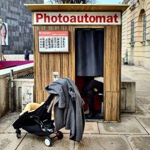 Photoautomat, Vienna. #photobooth #vienna #austria #museumquartierwien #photography #retro #pram