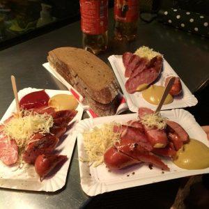 1st time Käsekrainer 😝 #vienna #viennafood