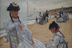 Claude Monet - On the Beach at Trouville - 1870 (from the Musée ...