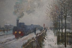 Claude Monet - Train Engine in the Snow - 1875 (from the Musée ...