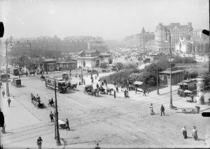 View of the Naschmarkt, ca. 1900 Taken roughly from the edge of Karlsplatz. The Vienna Secession can...