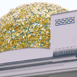 Dove il Novecento ha inizio. #art #arte #architettura #architecture #building #wien #vienna #historyofart #storiadellarte #cupola #white #gold...