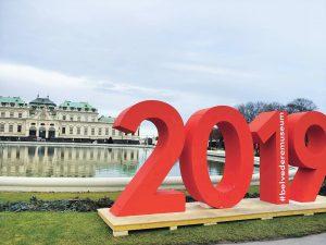 Happy New Year 2019❤ #belvedere #belvederemuseum #ilovevienna #vienna #wein #austria #20190101