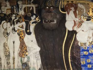 The Beethoven Frieze, Particular (Gustav Klimt) - Secession, Wien #secession #secessionbuilding #gustavklimt #klimt #artgallery #architecture #architettura #wien...
