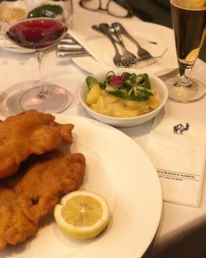 Quando em Viena, a pedida certa é o Wiener Schnitzel com salada de ...