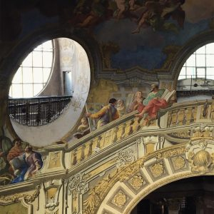 This beautiful gem is the cupola of the State-Hall of @nationalbibliothek and the painting is part of...