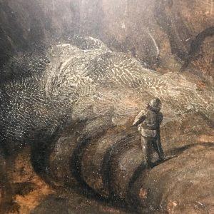 Looking at Bruegel's fingerprint in Vienna. #vienna #wien #kunsthistorischesmuseum #bruegel #oldmasters