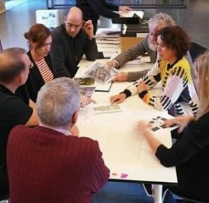 The jury members are selecting the 40 shortlisted works for the EU Prize for Contemporary Architecture -...