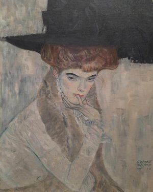 Pensive beauty. Gustav Klimt's 1910 The Black Feather Hat. #gustavklimt #neuegalerieny #vienna1900 Neue Galerie New York