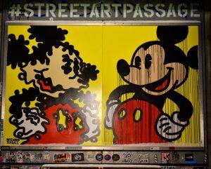 StreetArtPassage . . . #Wien #Vienne #streetartpassage #streetart #passage #mickeymouse #mickey #disney #wizardskull #museumsquartier #art #arturbain #street...