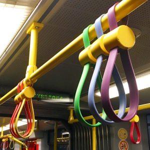 #U6 #Pride 🌈 #wienerlinien #rainbow #handles #publictransport #onthetrain #vienna #wien