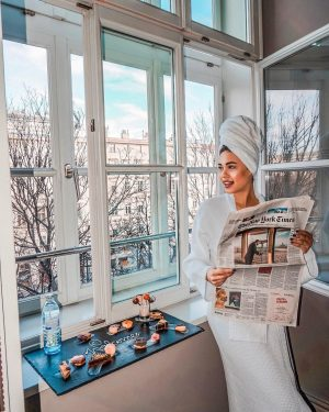 Enjoying the view of my Executive suit room in @lemeridienvienna ❤️ With the ...
