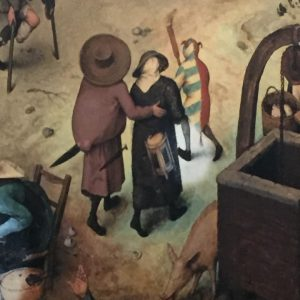 Fool lighting the way in broad daylight #bruegel #peopleneverchange #thebattlebetweencarnivalandlent