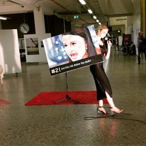 @Performance @mette.riise @rundgang Augasse #akademiederbildendenkünstewien #21 @did kim hit below the belt