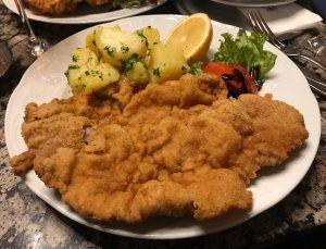 #schnitzel #potatoes #lemon #aperolspritz