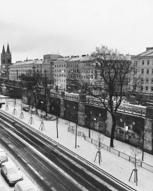 Winter is here. Vienna, Austria. #photography #shotoniphone #rickyshotoniphone #snow #winter #bnw #blackandwhite #cold #iphone