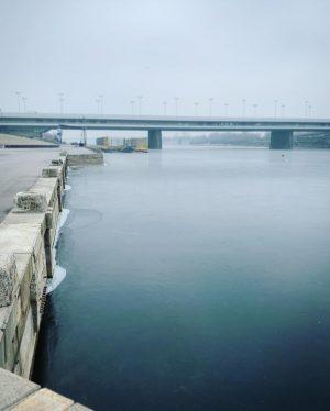 Es ist soweit: Unsere Donau ist #eisig schön! ❄️❄️ #donau #danuberiver #fluss #gefrorenerfluss #eis #winter2019 #january #cold...