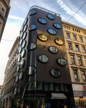 Dots building ⚫️⚫️⚫️ Vienna 🇦🇹 #vienna #austria #dots #window #oval #unique #building #hoteltopazz #dotsbuilding #trip #weekend #january...