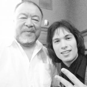 Just had to take this selfie(yeah quality is really bad) with Ai weiwei - for me he...