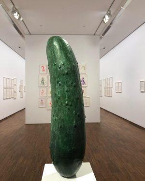 #itsallaboutart #erwinwurm #sculpture #albertina #nofilter #cucumber