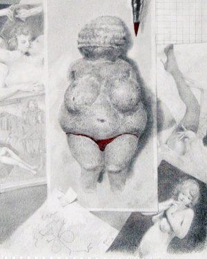 "#venus #bikinigirl #drawing #pencil by viktors svikis the #artwork is called ""Full frontal nudity"" svikis is from..."