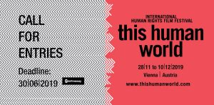 submit for 2019! The 12th edition of @thishumanworld will take place from Nov 28 - December 10...