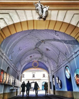 Museumsquartier One of a number of beautifully and originally decorated passageways Mikromuseen im MQ . . ....