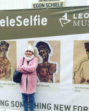 Me and Egon in a self portrait. If you can't buy it, be it. #SchieleSelfie #expressionism #egonschiele