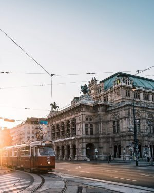 Sunday strolls on the magnificent Ring Boulevard. Vienna's Ringstrasse is 5.3 kilometers long. Long enough to provide...