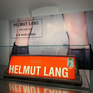 original advertisement on New York City cabs for Helmut Lang who was the first one to start...
