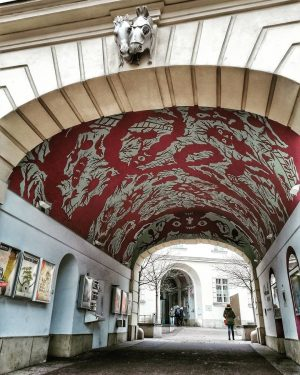 Museumsquartier One of a number of beautifully and originally decorated passageways. . . ...