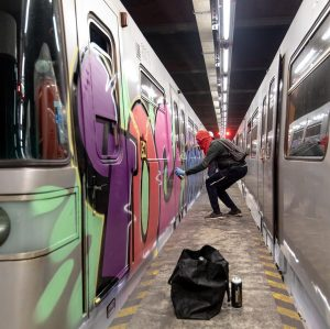 Hello Vienna! #vienna #holiday #trainwriting #ioc #wmr #graffiti #wienerlinien #ubahn #metro #nightaction #actionphotography #graffitiphotography #peterwhitephotography
