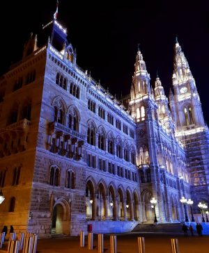 I was asked to post another night image of the Vienna City Hall, revealing more of its...