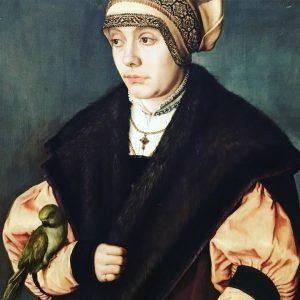 Hans Holbein PORTRAIT OF A WOMAN WITH A PARROT @kunsthistorischesmuseumvienna #artblog #kunsthistorischesmuseum #art #vienna