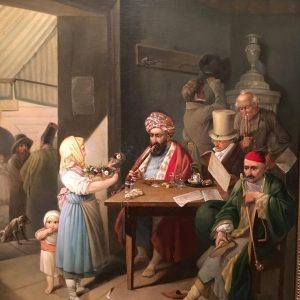 Greeks in a Viennese Coffee House. Painting by Theodor Leopold Weller (1824) . . . . #wienmuseum...