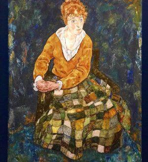 Portrait of Edith Schiele, the artist's wife (1918) - Egon Schiele #egonschiele #schiele #edithschiele #belvedere #belvederemuseum #finearts...