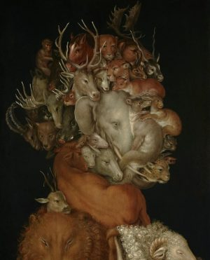 Oh wow, what an amazing artwork by Guiseppe Arcimboldo, isn't It? 👀😯 If you're close enough you...