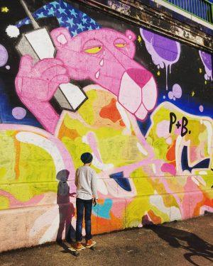 #muralart #mural #streetart #inthestreets #urban #urbanart #colours #art #painting #graffiti #shadow #skateboard #kids #biking #myvienna #mycity #lovevienna...