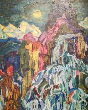 Me he enamorado de Helene Funke. De su arte colorista. Y de la sala repleta de pintoras...