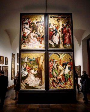 Wiedeń: Belweder - Rueland Frueauf starszy malował w późnym średniowieczu. Tworzył w Salzburgu (powyższe dzieło to wszak...