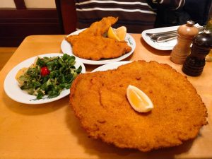 This Schnitzel was bigger than my face😁😁😁 Figlmüller (official)