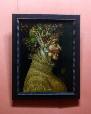 L'estate (1573), l'inguerno (1573), l'allegoria dell'acqua (1566) e l'allegoria del fuoco (1566) sono stati dipinti da Giuseppe...